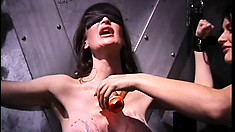 Anastasia Lottatang loves playing naughty, lesbian, bondage games in the dungeon