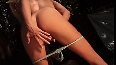 Seductive blonde with big tits Brianna Banks is addicted to anal sex